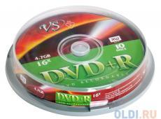 DVD+R VS 4.7Gb 16х 10шт Cake Box