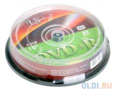 DVD+R VS 4.7Gb 16х 10шт Cake Box Printable