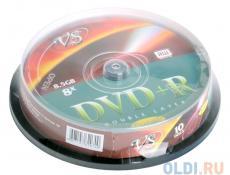DVD+R VS 8.5Gb 8х Double Layer 10шт Cake Box Printable