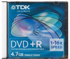 DVD+R TDK 4.7Gb 16x Slim