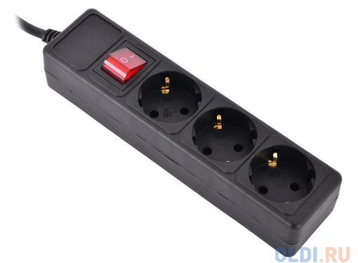 Сетевой фильтр Sven Optima Base 5,0 м (3 розетки) черный