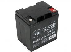 аккумулятор 3cott 3c-12260, 12 в, 26 ач