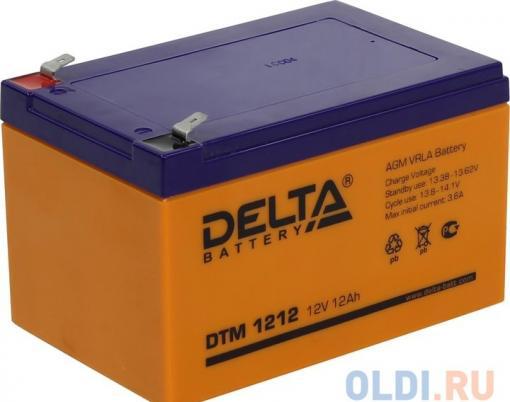 Аккумулятор Delta DTM 1212 12V12Ah
