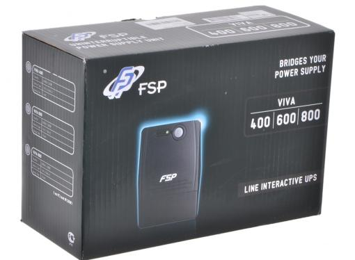 ибп fsp viva 600 600va/360w avr (4 iec)