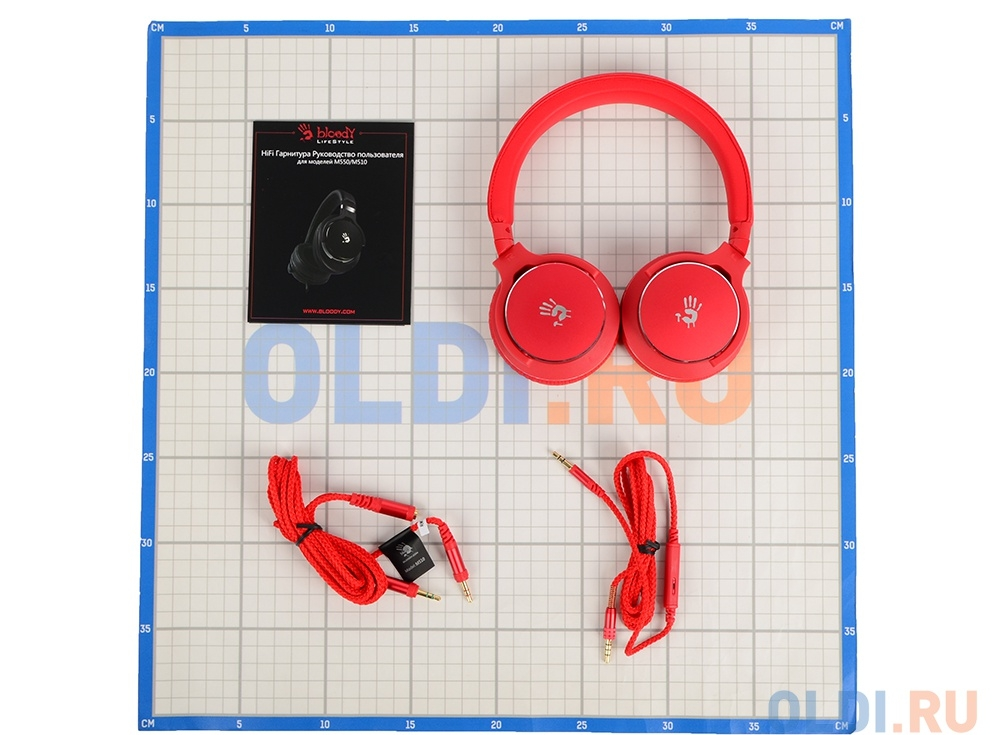 Гарнитура  A4Tech Bloody M510 Red Проводные / Полноразмерные с микрофоном / Красный / 10 Гц - 22 кГц / 103 дБ / Одностороннее / Mini-jack / 3.5 мм