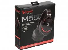 Гарнитура  A4Tech Bloody M550 черный/красный 1.2м