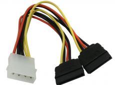 кабель питания orient c908, 2xsata (y), 0.16 м