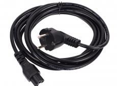 Кабель питания VCOM для ноутбуков 3М 3G*0.5mm 220V (CE022-CU) VDE стандарт