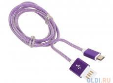 Кабель USB 2.0 Cablexpert, AM/microBM 5P, 1м фиолетовый металлик