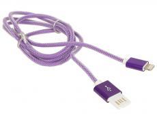 Кабель USB 2.0 Cablexpert, AM/Lightning 8P, 1м фиолетовый металлик