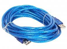 Кабель удлинительный Telecom USB2.0 AM/AF прозрачная, голубая изоляция 5.0m (VUS6956T-5MTBO)