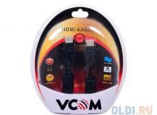 Кабель VCOM HDMI 19M/M ver:1.4-3D, 1,8m, позолоченные контакты, 2 фильтра (VHD6020D-1.8MB) Blister