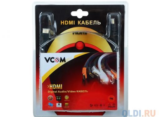 Кабель VCOM HDMI 19M/M ver:1.4-3D, 5m, позолоченные контакты, 2 фильтра (VHD6020D-5MB) Blister