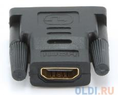 Адаптер (переходник) Gembird HDMI-DVI A-HDMI-DVI-2, 19F/19M, золотые разъемы, пакет