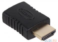 Переходник 3Cott 3C-HDMIM-HDMIF-AD206GP с HDMI/M на HDMI/F,  позолоченные коннекторы, черный