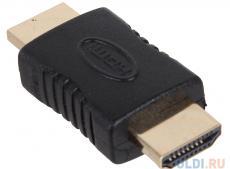 Переходник 3Cott 3C-HDMIM-HDMIM-AD208GP, с HDMI A/M на HDMI A/M, позолоченные коннекторы, черный