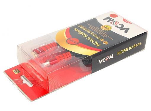 кабель vcom hdmi 19m/m ver 2.0 ,1.8m <cg526s-1.8mr> blister