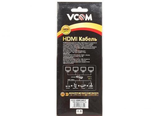 Кабель VCOM HDMI 19M/M ver 2.0 ,1.8m (CG526S-1.8MB) Blister