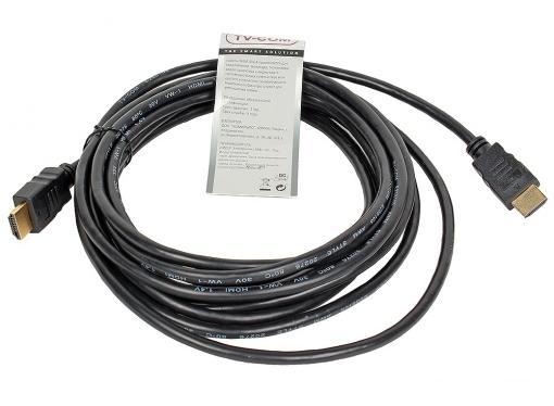 Кабель цифровой HDMI19M to HDMI19M, V1.4+3D, 5m, TV-COM