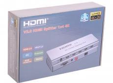 Разветвитель HDMI 4K Splitter ORIENT HSP0104H-2.0, 1-4, HDMI 2.0/3D, UHDTV 4K/ 60Hz (3840x2160)/HDTV1080p, HDCP2.2, EDID управление, RS232 порт, IR в