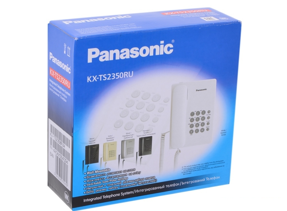 Телефон Panasonic KX-TS2350RUW (Flash)