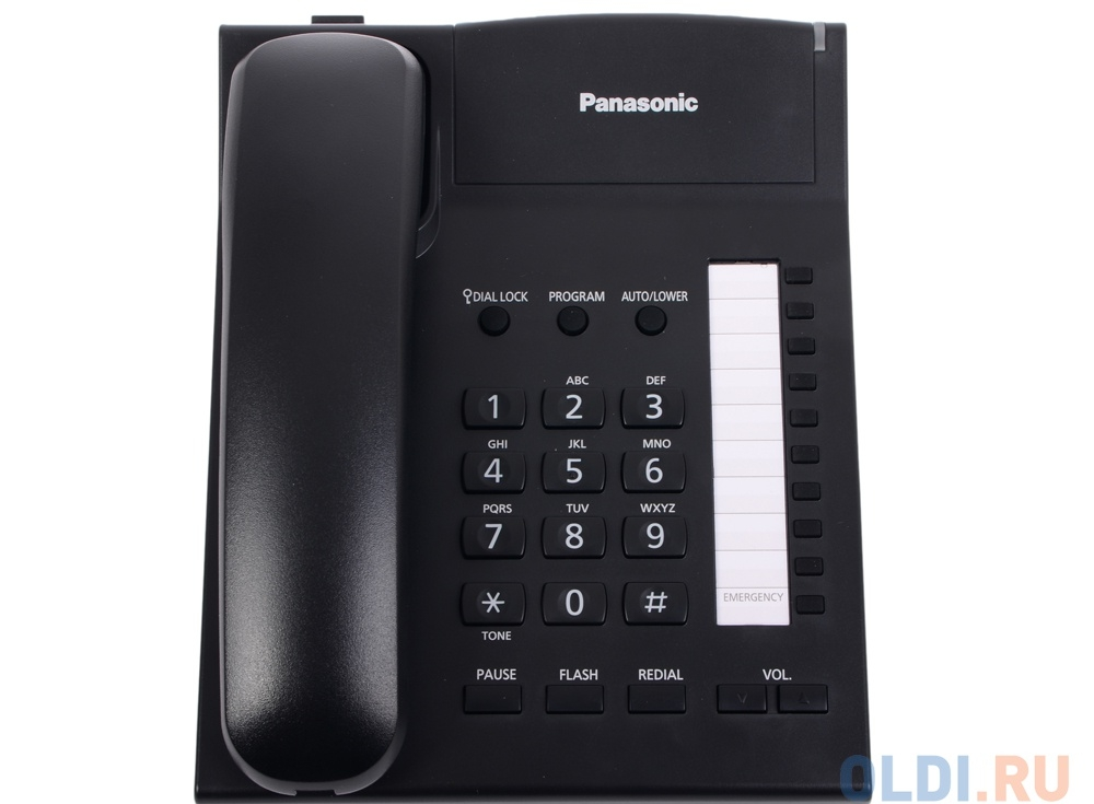 Телефон Panasonic KX-TS2382RUB Спикер, память 20