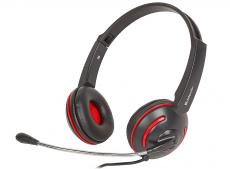 Гарнитура Defender Aura-115  черный, кабель 2 м