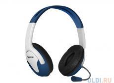 гарнитура defender bravo 116 белый+синий 1,8 м кабель