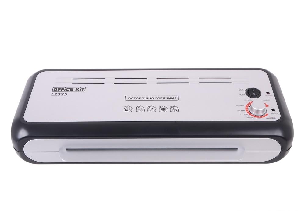Ламинатор Office Kit L2325 A4 2х250 (пленка 60-250мкм) 37,5см/мин, 4 вала, холодн.лам., лам.фото, ABS система разжатия валов, плавная регулировка t