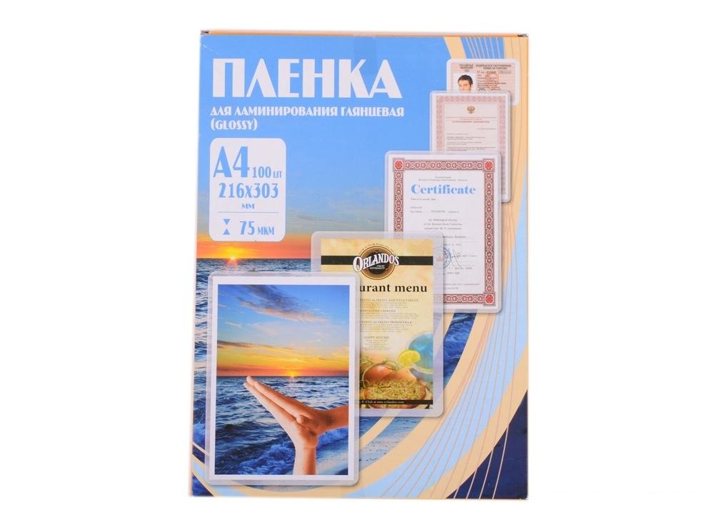 Плёнка для ламинирования Office Kit A4 (PLP10023) 216х303 мм, 75 мкм, глянцевая, 100 шт.