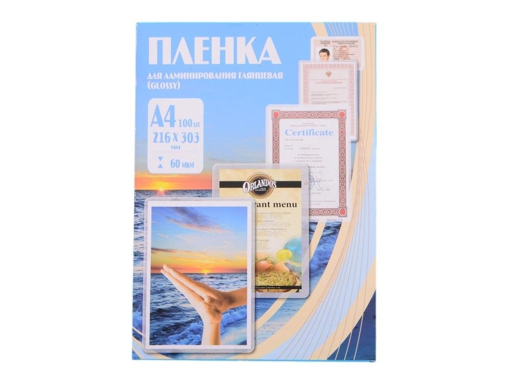 Плёнка для ламинирования Office Kit A4 (PLP100123) 216х303 мм, 60 мкм, глянцевая, 100 шт.