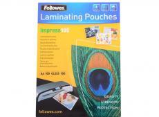 Плёнка для ламинирования Fellowes A4 (53511) 216x303 мм, 100 мкм, глянцевая, 100 шт.