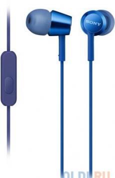 Гарнитура SONY EX155AP вкладыши, цвет синий