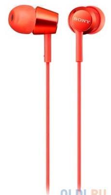 Наушники SONY EX155 вкладыши, цвет красный