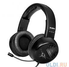 гарнитура sven ap-895mv, черный, для моб. устройств (4pin jack), выдвижной микрофон, адаптер для пк
