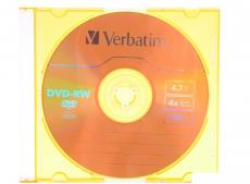 Диск   DVD-RW 4.7Gb Verbatim 4x  Slim color  43563\43635