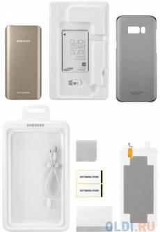 Портативное зарядное устройство Samsung EB-WG95ABBRGRU для Samsung Galaxy S8 + защитная пленка + чехол