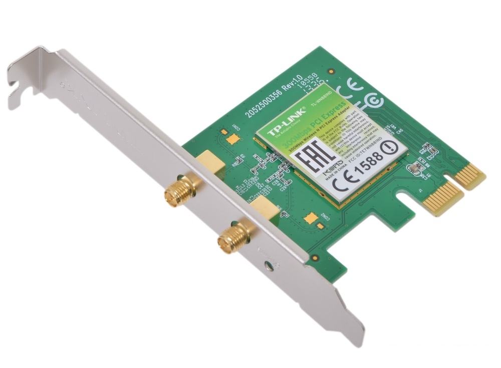 Беспроводной Wi-Fi адаптер TP-Link TL-WN881ND 802.11bgn, 300Mbps, 2.4GHz, PCI-E