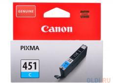 Картридж Canon CLI-451C для MG6340, MG5440, IP7240 . Голубой. 332 страниц.