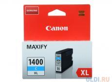Картридж Canon PGI-1400XL C для MAXIFY МВ2040 и МВ2340. Голубой. 1020 страниц.