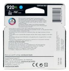 картридж hp cd972ae (№ 920xl) голубой oj 6000/6500/7000