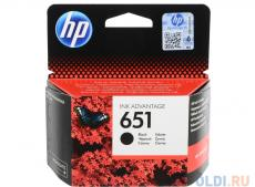 Картридж HP C2P10AE (№651) для DeskJet Ink Advantage 5645, 5575. Чёрный. 600 страниц.