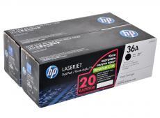 картридж hp cb436af двойная упаковка lj m1120/m1520/p1505 черный  4000 страниц