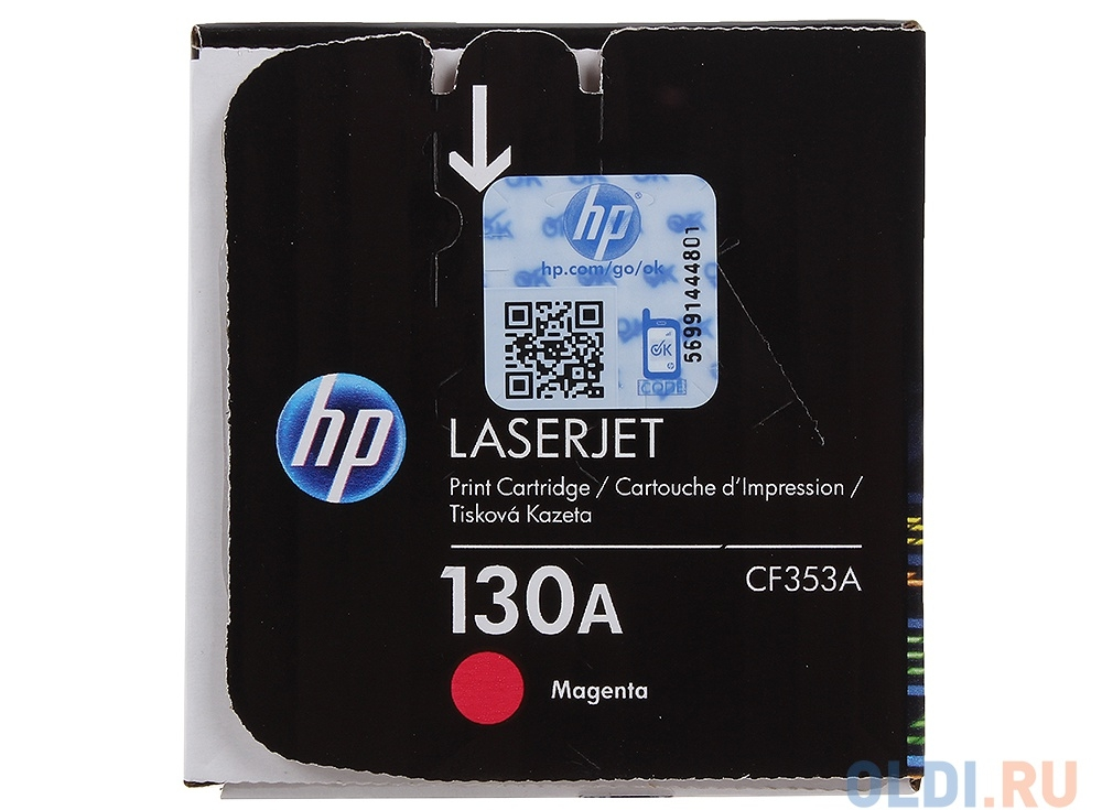 картридж hp cf353a для laserjet pro m153/m176/m177. пурпурный. 1000 страниц. 130a.
