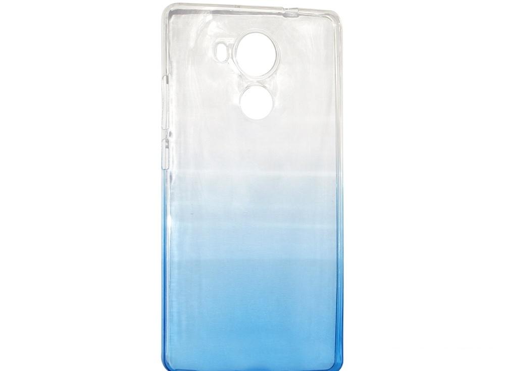 Крышка задняя для Huawei MATE 8 Силикон Синий