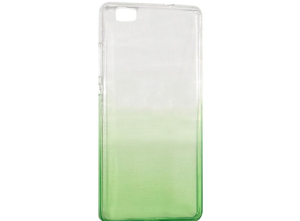 Крышка задняя для Huawei P8 Lite Силикон Зелёный