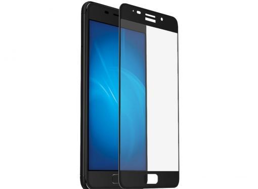Закаленное стекло с цветной рамкой (fullscreen) для Asus Zenfone 3s Max (ZC521TL) DF aColor-05 (black)
