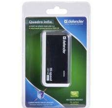 Концентратор USB2.0 HUB Defender QUADRO INFIX 4 порта