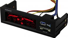 Контроллер вентиляторов Aerocool Cool Touch-R 1xUSB 3.0, карт-ридер, сенсорный, до 4-х вентиляторов, по 20Вт