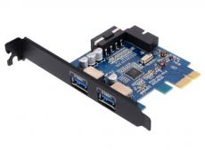 Контроллер PCI-E Orico PVU3-2O2I  OUT:USB 3.0*2 IN:USB3.0 20pin